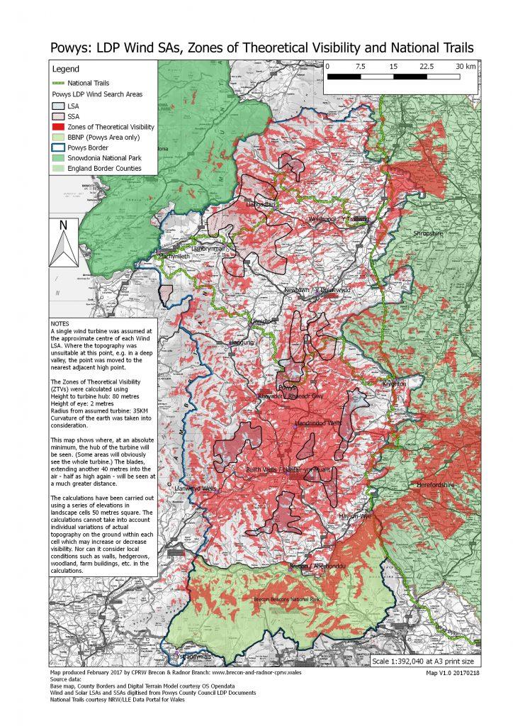 Powys LDP Wind SAs - ZTVs - National Trails V1.0 20170218(A3)