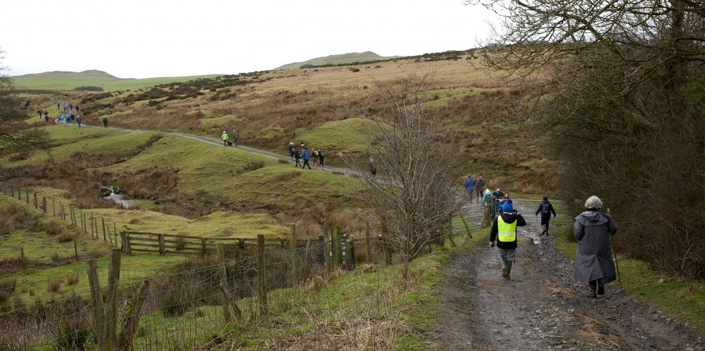 Arriving at Llandegley Rhos Common and heading up to the viewpoint